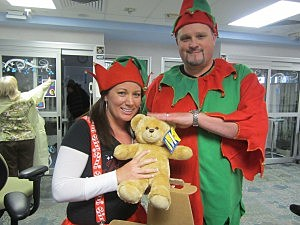 Mike & Kate Christmas Elves